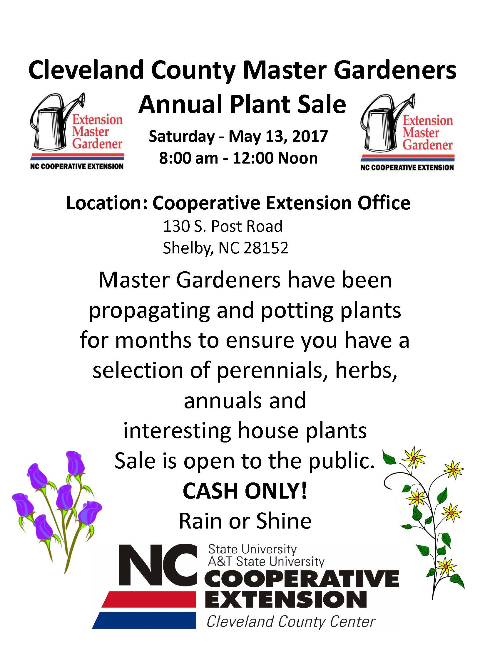 Extension Master Gardeners Annual Plant Sale North Carolina Cooperative Extension