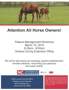 Cover photo for Pasture Management Workshop in Onslow County
