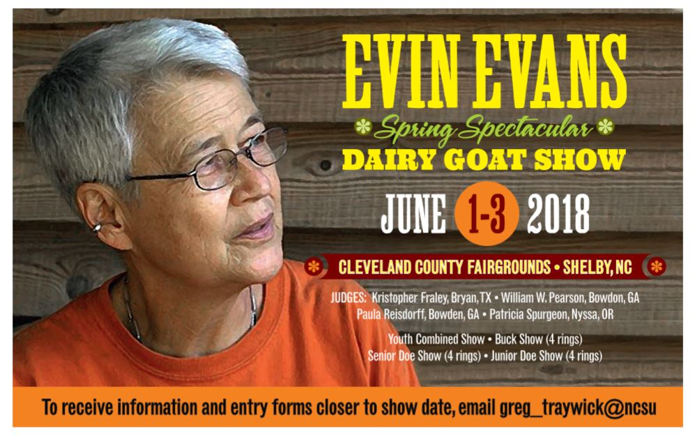 Dairy goat show flyer image
