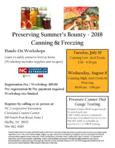 Cover photo for Preserving Summer's Bounty - Hands-on Food Preservation Classes - 2018