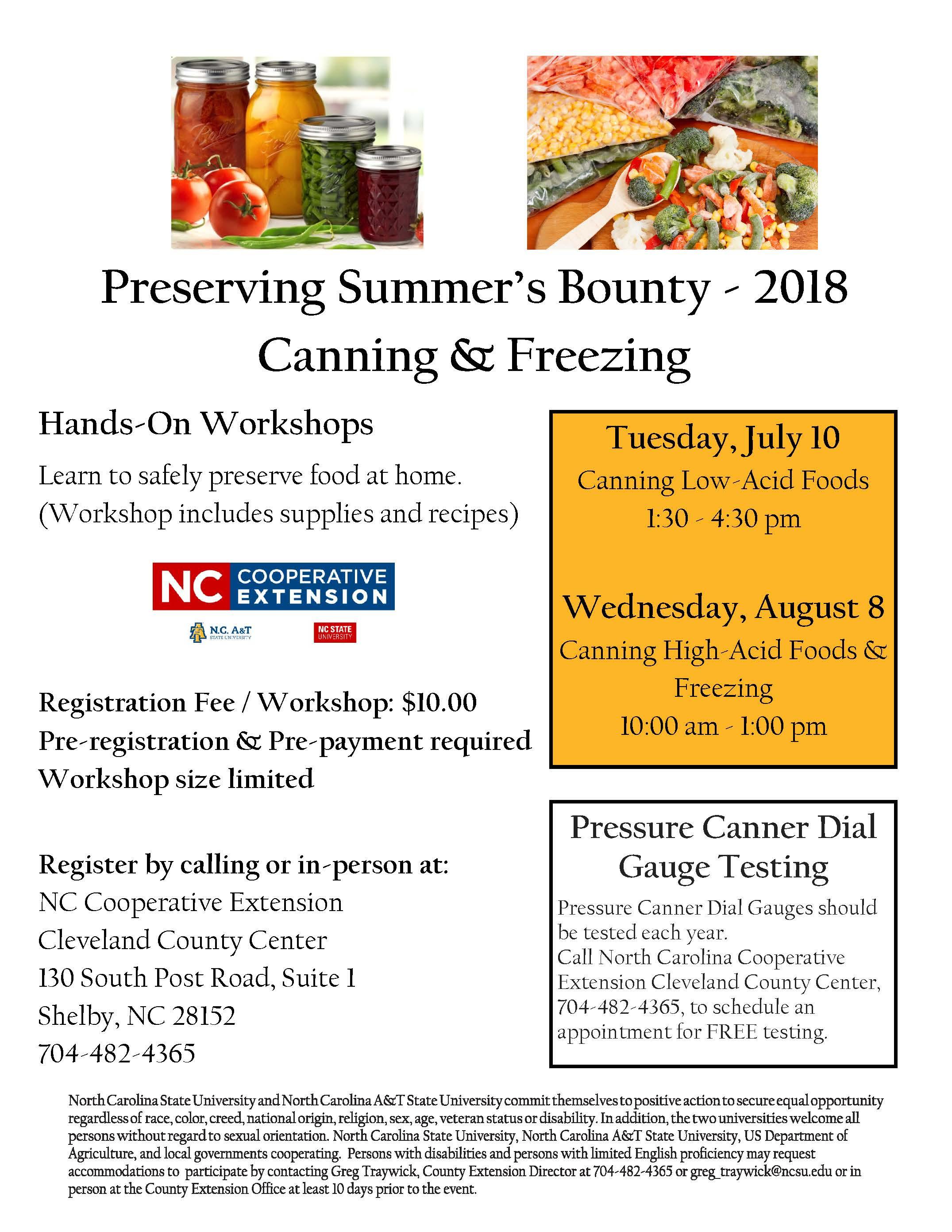 Preserving summers bounty hands on food preservation classes hands on workshops flyer image forumfinder Choice Image