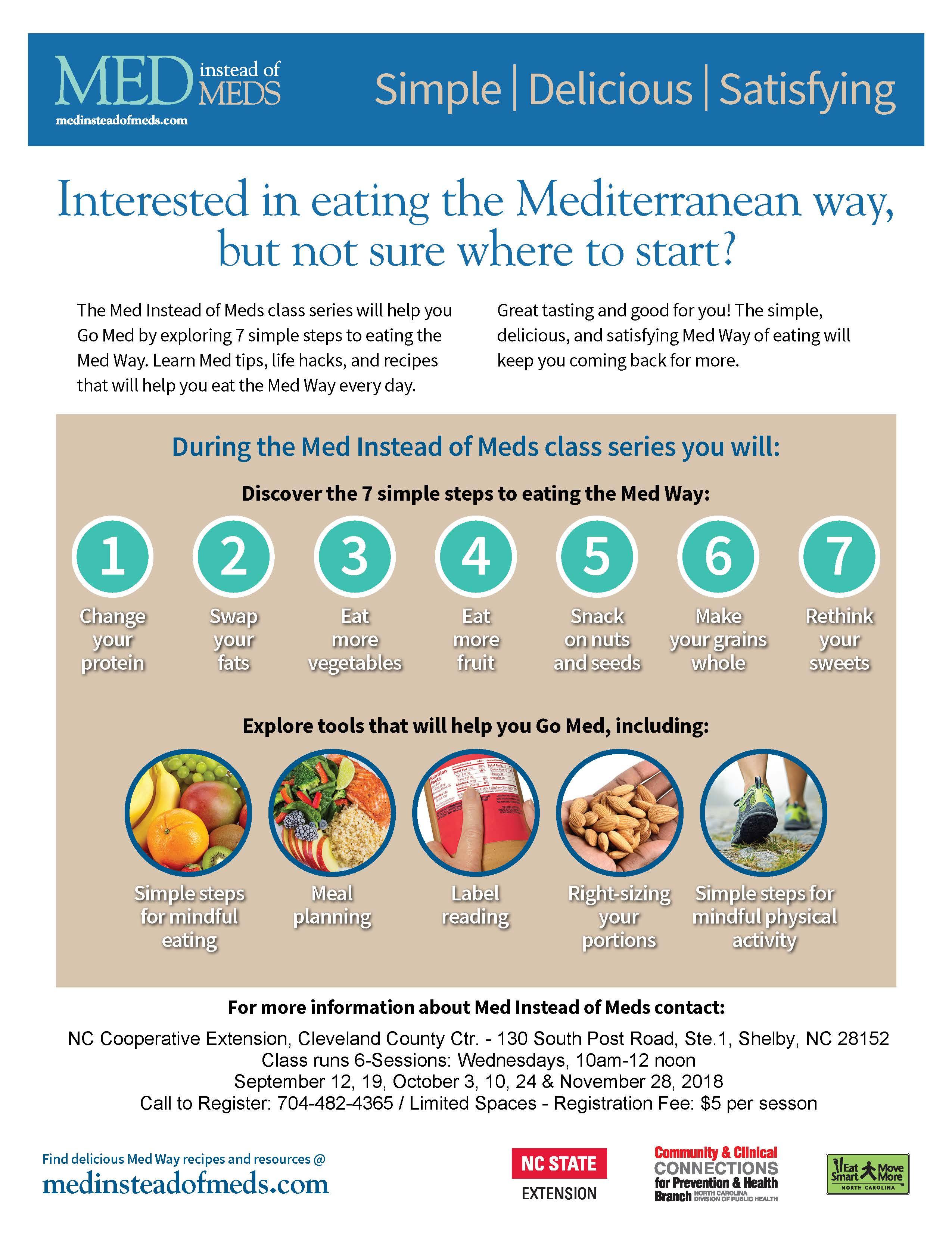 Med Instead of Meds flyer image