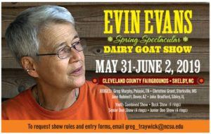 Cover photo for 2019 Evin Evans Spring Spectacular Goat Show