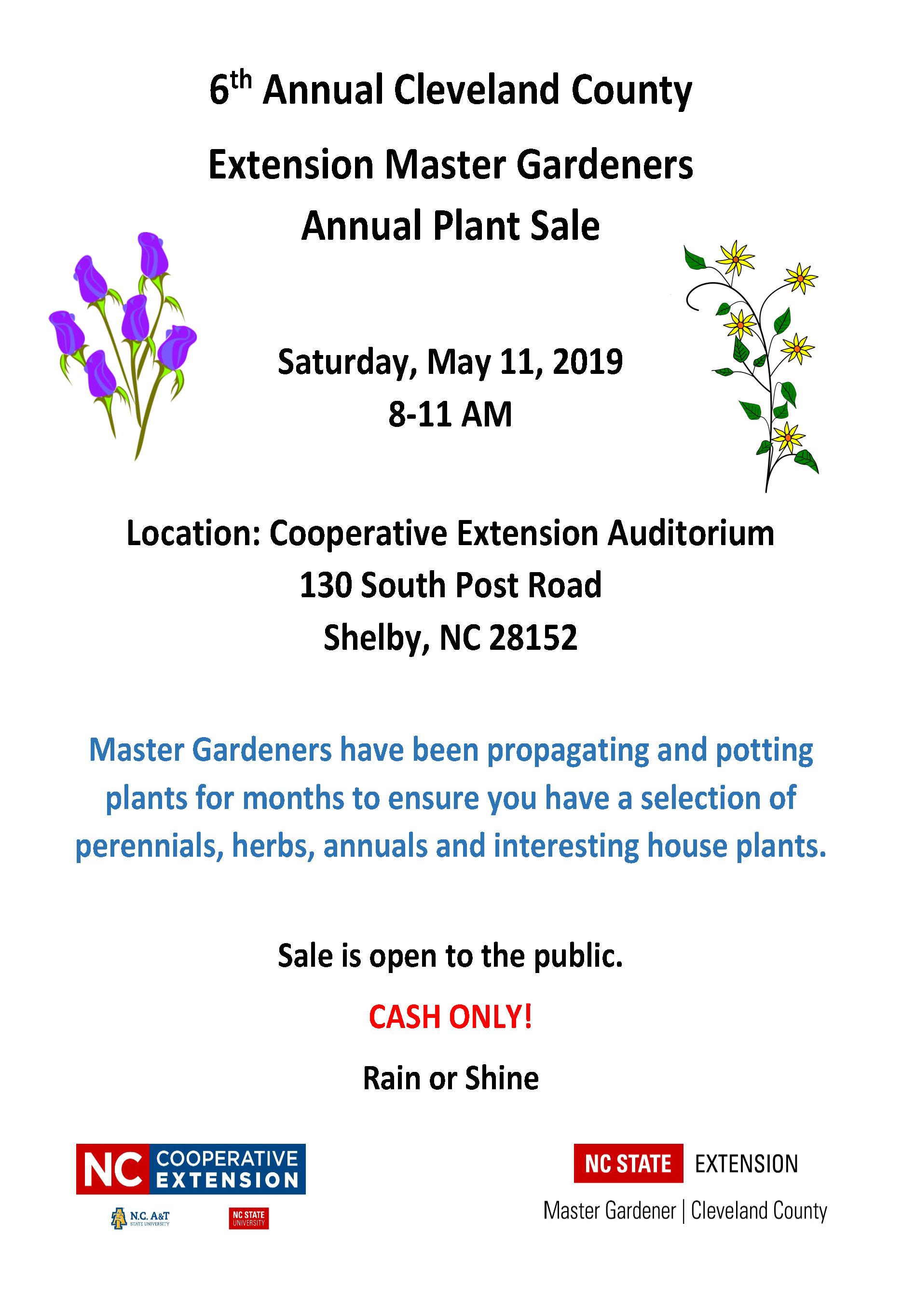 Plant sale flyer