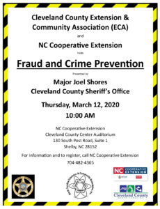 Cover photo for Fraud and Crime Prevention Workshop