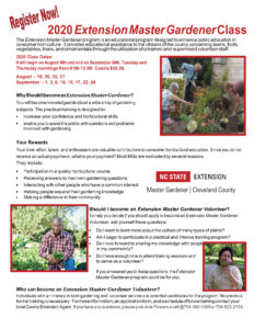 Cover photo for 2020 Extension Master Gardener Class Offered