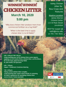 Cover photo for Using Chicken Litter for Row Crops and Pastures