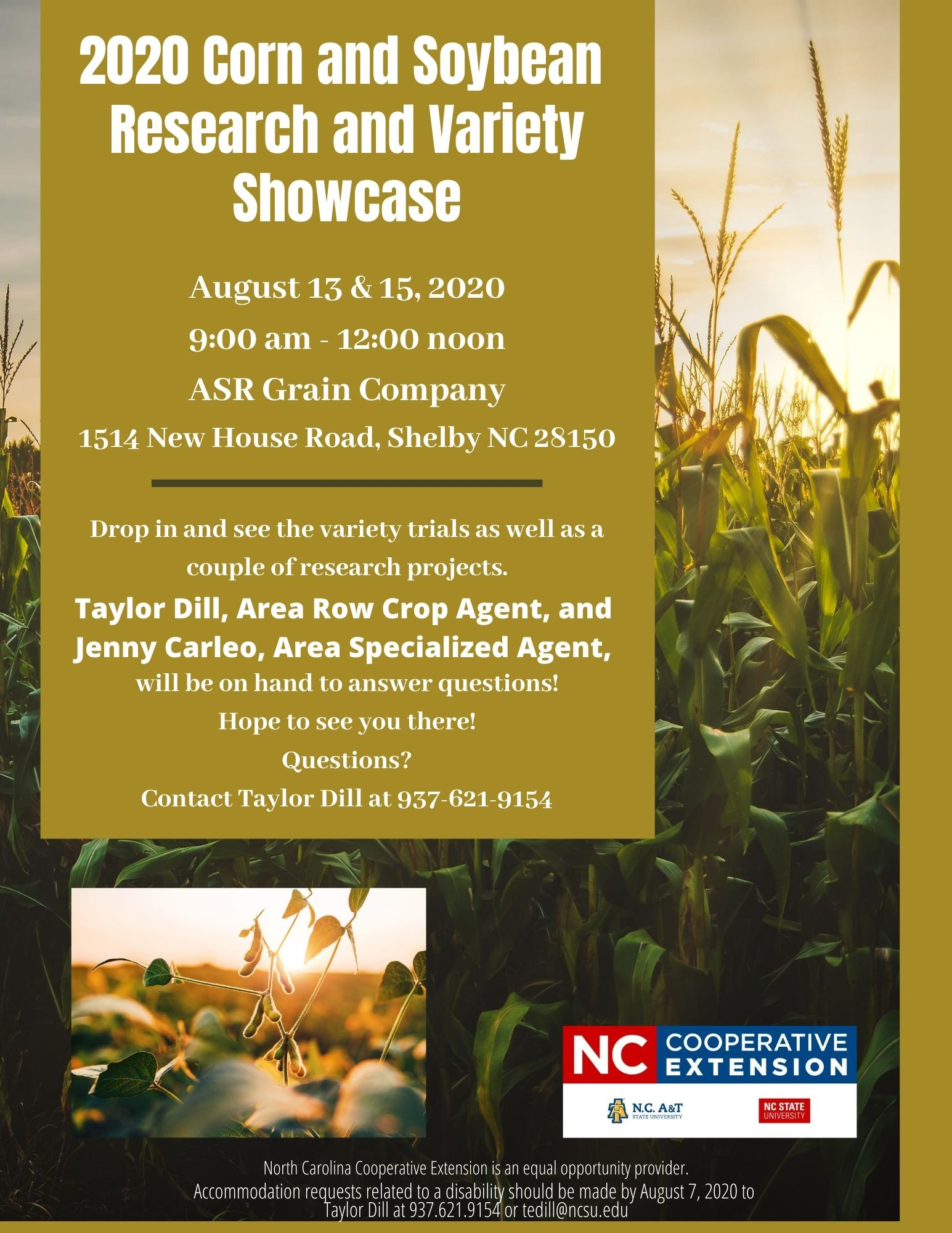 Corn and Soybean Research and Variety Showcase