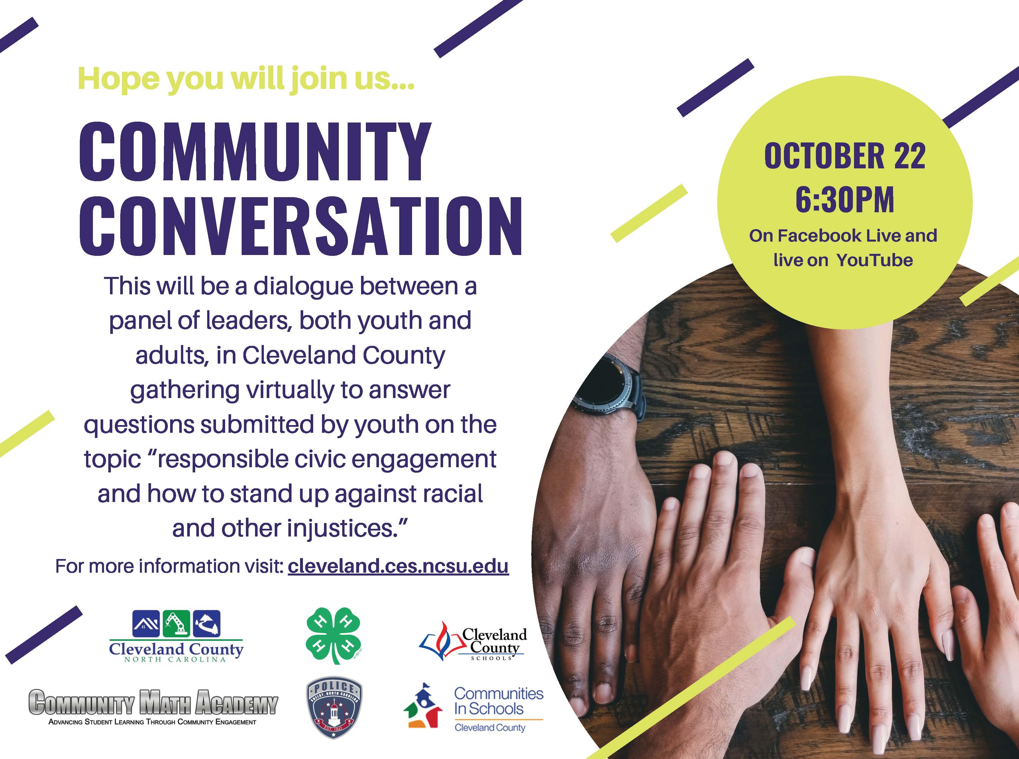 Community Conversation Event Flyer