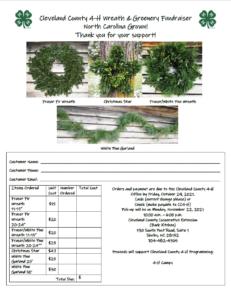 4-H Wreath Fundraiser Flyer